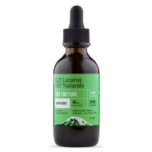 Lazarus Naturals High Potency CBD Tincture Oil Best CBD Oil For Dementia