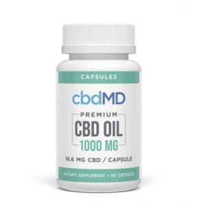 cbdMD Premium CBD Oil Capsules