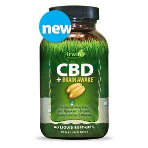 Irwin Naturals CBD Soft Gels Plus Brain Awake