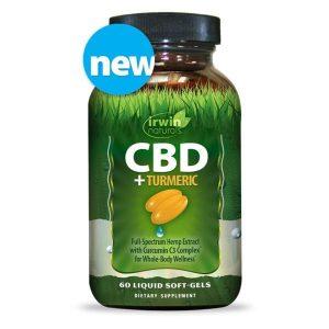 Irwin Naturals CBD Soft Gels With Turmeric