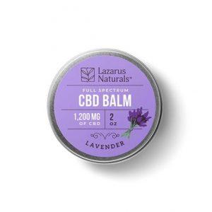 Lazarus Naturals Lavender CBD Balm Best CBD Balm For Pain