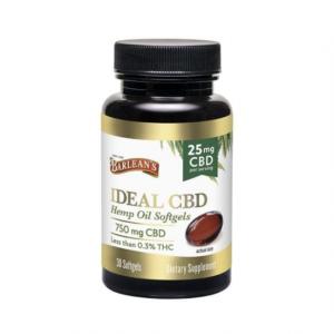 Barlean's Ideal CBD Hemp Oil Softgels 25mg Barlean's CBD