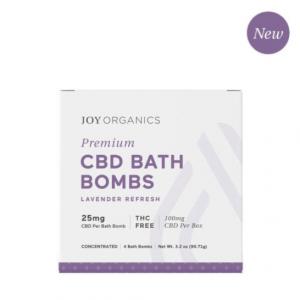 Joy Organics Lavender Bath Bombs Best CBD Bath Bombs