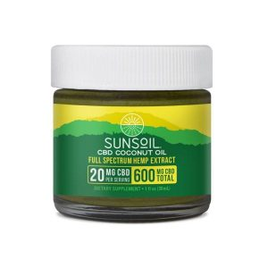 Sunsoil CBD Coconut Oil 600mg