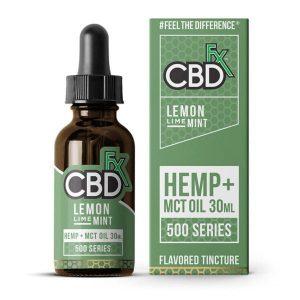 CBDfx Lemon Lime Mint CBD   MCT Oil Tincture