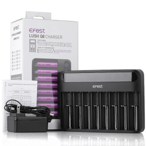 Efest Lush Q8 Intelligent Vape Battery Charge